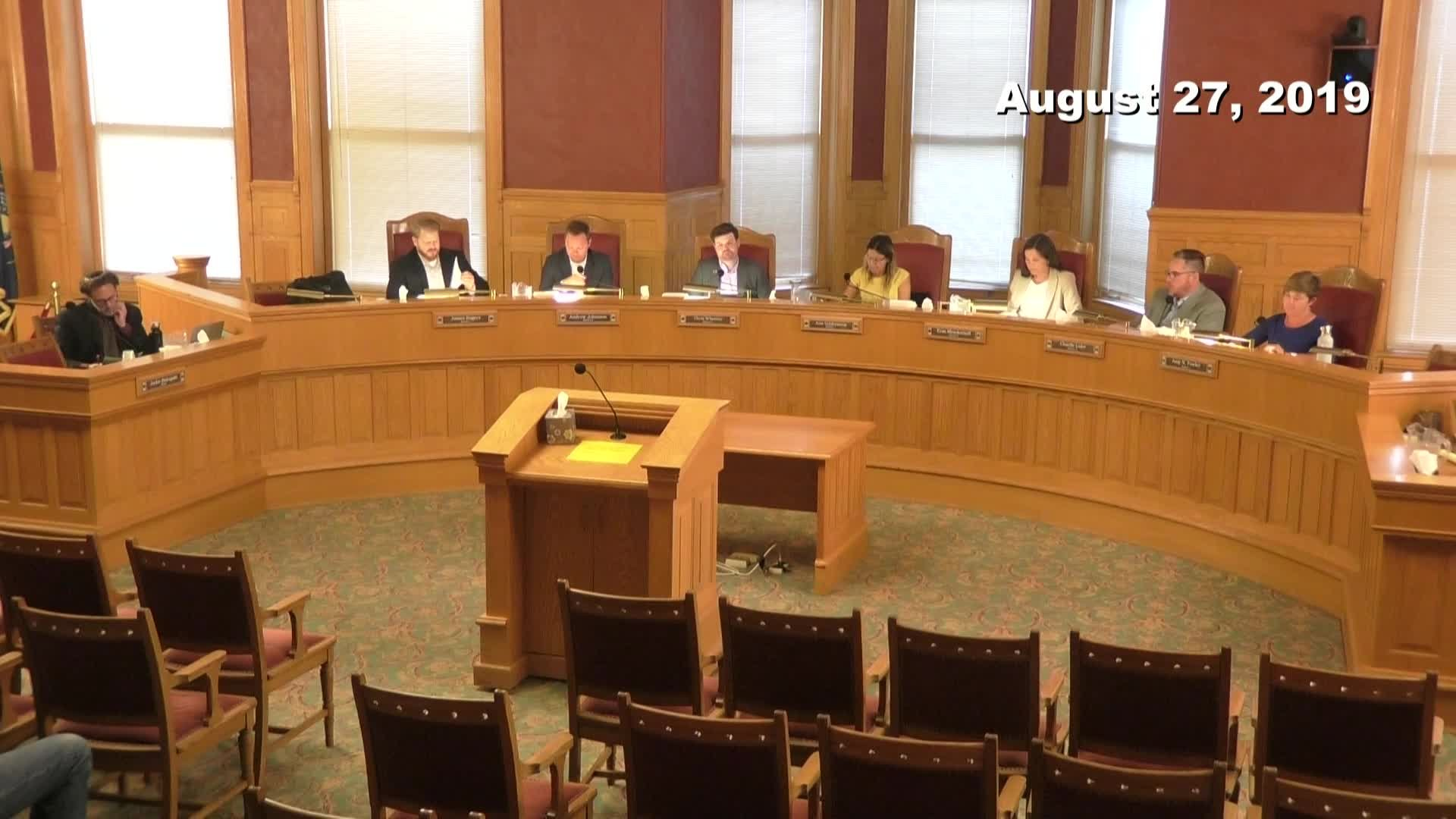 City Council Formal Meeting - 08/27/2019