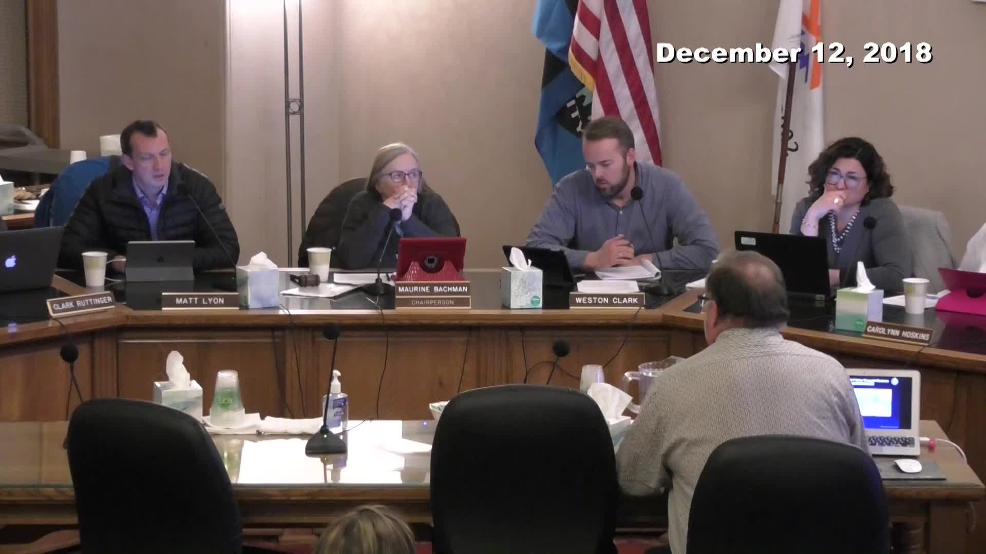 Planning Commission Meeting - 12/12/2018